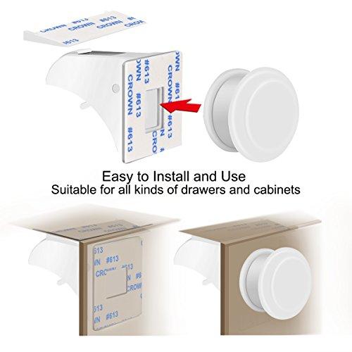 Baby Safety Magnetic Cabinet Lock Set HURRISE Child Safety Locks Kids Toddler Proofing Hidden Cupboard Drawer Locking System No Drilling & Screws (16 Locks & 3 Keys) by HURRISE (Image #2)