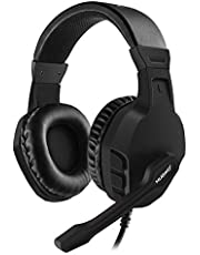 NUBWO Gaming PS4, U3 Stereo Wired Xbox One Headset con Microfono di riduzione del Rumore, Cuffie Over-Ear con Mute Kontrol per PC, Mac, Playstation 4, Xbox One, Android e iPhone, Nero