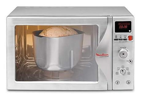 Moulinex MW700130 - Microondas/panificadora, 800 W, convección 2500 W, grill 1100 W, capacidad 28 litros