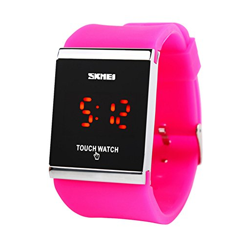 Sport watch,Led wrist watch Luminous Touch screen Calendar Silicone strap Retro jelly Male and female students Couples-E by FXBNHDFMF