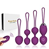 Jintrun Upgrade 2 in 1 Kegel Exercise Weights & Massage Ball Ben Wa Balls Kegel Balls Beginners & Tightening- Doctor Recommended for Bladder Control & Pelvic Floor Exercises
