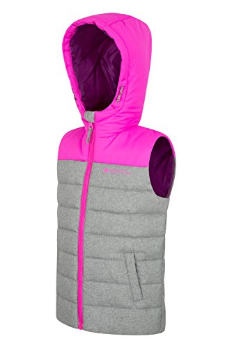 Childrens Jacket Padded Hoodie Pink for Adjustable Warehouse Travelling Resistant Textured Spring Body Warmer Rain Water Kids Filler Mountain Gilet Rocko Microfibre FwIaa8