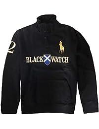 Polo Ralph Lauren Men\u0026#39;s Big Pony Black Watch Sweatshirts, X-Large, Black