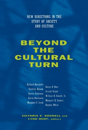 Beyond the Cultural Turn: New Directions in the Study of Society and Culture (Studies on the History of Society and Cult
