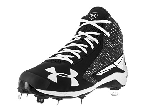 Under Armour Men's UA Yard Mid ST Baseball Cleats Black/White 2014 cheap sale buy cheap footlocker pictures dZYHEGEEQM