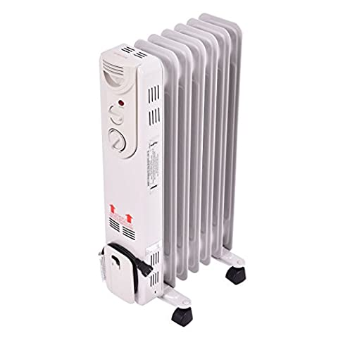 Tangkula Electric Oil Filled Radiator Heater Portable Home Room Radiant Heat 5-Fin Thermostat 1500w