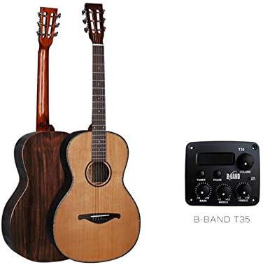 ギター シングルボードフォークレトロなギターはエレクトリックボックス38インチの丸いインストールすることができます アコギ 初心者 (色 : Natural, Size : 38 inches)