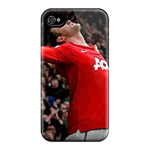 New Snap-on CaseFactory Skin Case Cover Compatible With Iphone 4/4s- Wayne Rooney Celebrity