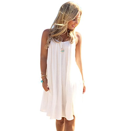 White Floral Swimsuit (NFASHIONSO Women Lace Floral Sleeveless Swimsuit Cover up Bikini Dress)