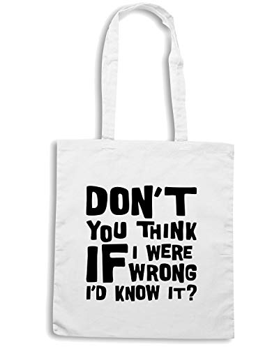 Speed Shirt Borsa Shopper Bianca OLDENG00122 IF I WERE WRONG