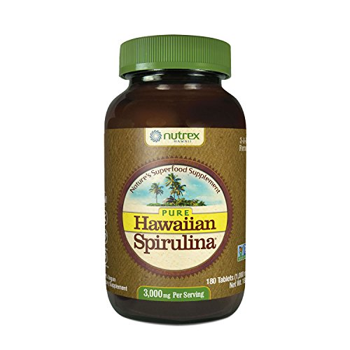 Pure Hawaiian Spirulina - 1000mg tablets 180 count – Boosts Energy and Supports Immunity – Vegan, Non GMO – Natural Superfood Grown in - Kona Mall
