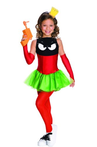 Marvin The Martian Girl Child Costumes (Marvin the Martian Child's Costume - One Color - Small)