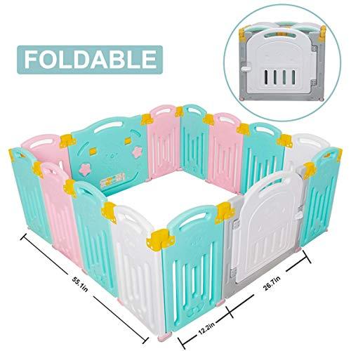 Uanlauo Foldable Baby Playpen
