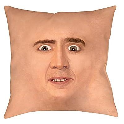 Creepy Cage Face Throw Pillow