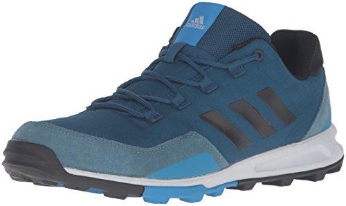 adidas Outdoor Men's Tivid Hiking Shoe, Tech Steel/Black/Shock Blue, 11 M US