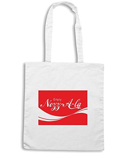 T-Shirtshock - Bolsa para la compra ENJOY0070 Enjoy Nozz-A-la Blanco