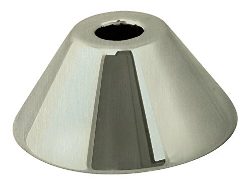 WestBrass D1271-07 3/8 in. IPS Bell Pattern Sure Grip Flange, Satin Nickel ()