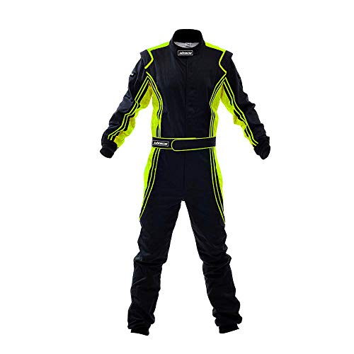 jxhracing RB-CR014 One Piece Auto Go Karts Racing Suit-SFI rated Large, Orange