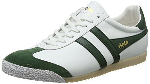 Homme 50 Blanc Gola Harrier White Winter Baskets Leather Green xqnnPI5