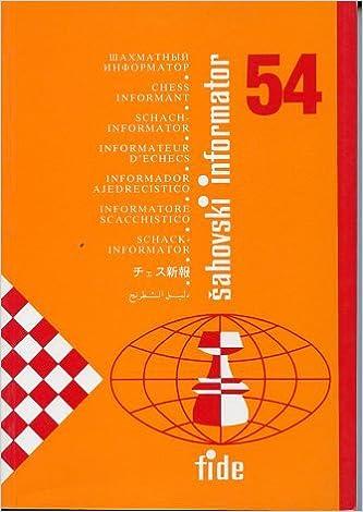 Chess Informant 54 Sahovski Informatorchess Informant Alexandr