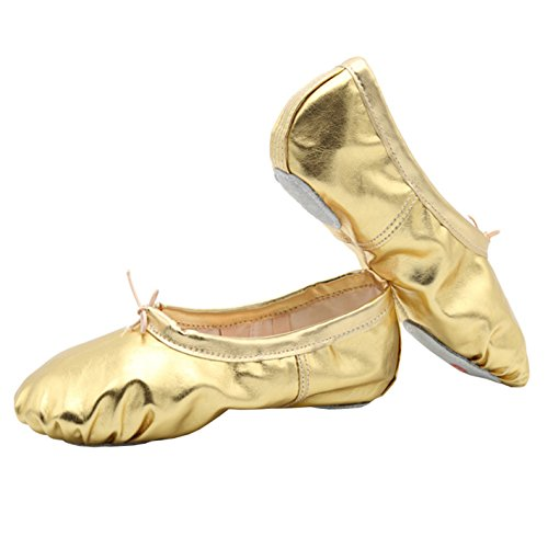 Ballett für Kinder 44 Gr 22 Ballettschläppchen Damen Mädchen Gold Tanzschuhe wEdx7qU