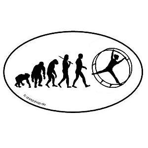 Rhönrad Turnen Evolution Aufkleber Autoaufkleber Sticker Vinylaufkleber Decal