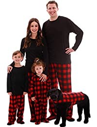 Matching Buffalo Plaid Pajamas for Family, Couples, and Dog