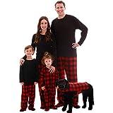 #followme Matching Buffalo Plaid Pajamas for Family, Couples, and Dog