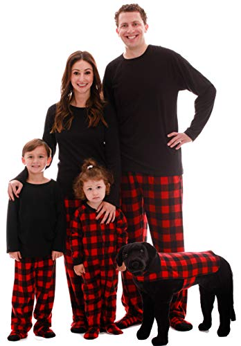 #followme Buffalo Plaid Blanket Sleepers 95197-10195D-12M