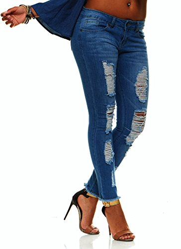 Ripped Distressed Washed Skinny Stretch Jeans for Women Plus Size 24 / Dark Denim Wash