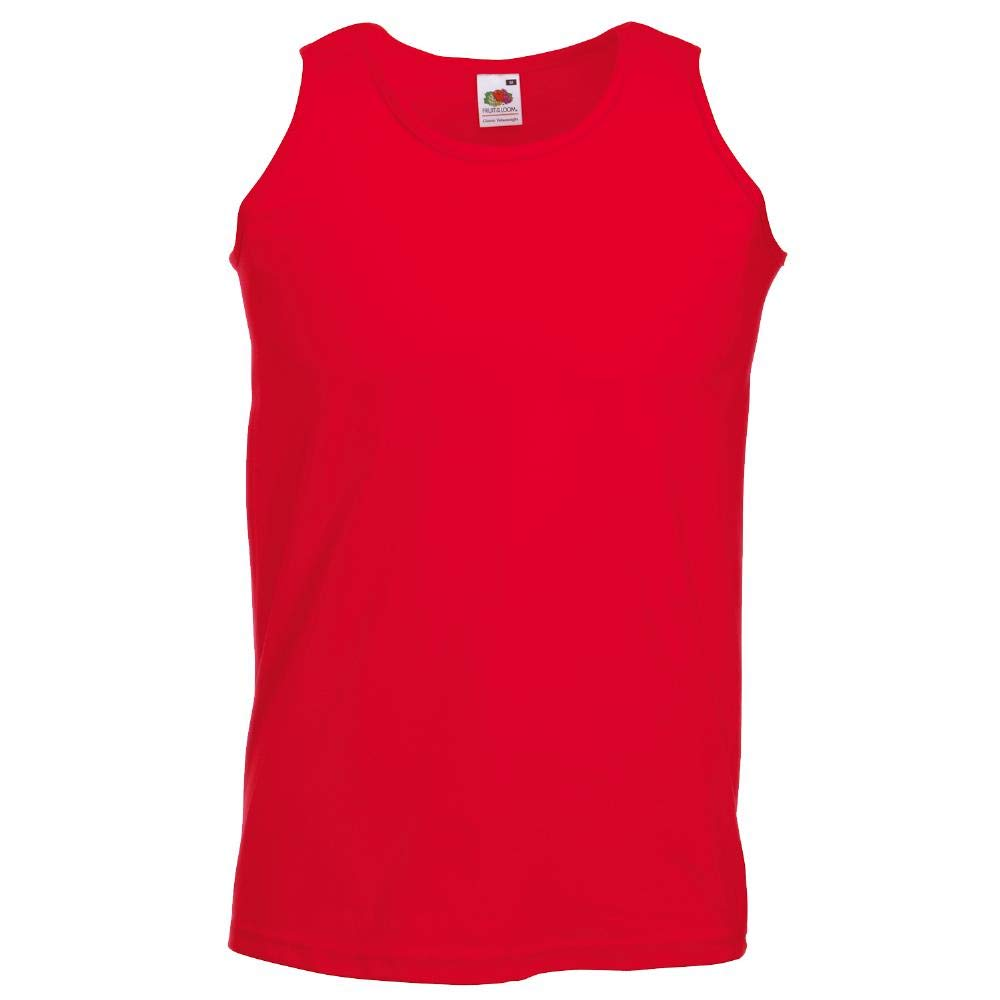 Fruit of the Loom SLEEVELESS ATHLETIC VEST TOP - 5 COLOURS (S-XXL)
