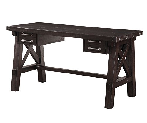(Modus Furniture 7YC996D Yosemite Solid Wood Desk, Café)