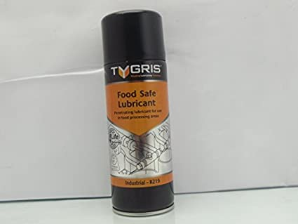 Food Safe Lubricant, 400Ml Spray Can, Tygris R219, for lubricating moving  parts