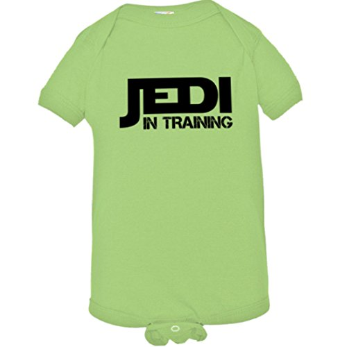 Baby Creeper Jedi In Training Cute Warrior SW HQ 1-Piece Jumper - Key Lime