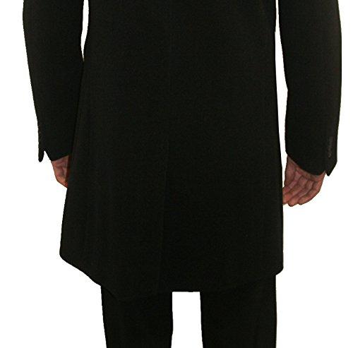 Herren Wollmantel Mix blau schwarz als Business Kurzmantel Slim Fit S M L XL XXL XXXL 46 48 50 52 54 56 58