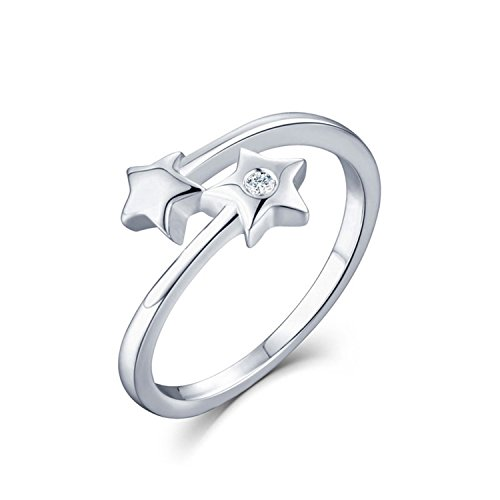 Bang-pa Luxury Women Diamond rings 925 Sterling Sliver Jewelry Star Wedding Rings Diamond Jewelry Gift box Diamond Ring - Stores Location Tiffany Outlet