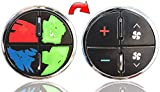 AcButtons Vinyl Repair Decal Overlays for General Motors AC Button Controls - Easily Repair Your Worn GM A/C Buttons | Fits Most 2007-2014 Chevy Tahoe Gmc Yukon Buick Enclave Silverado Sierra Models