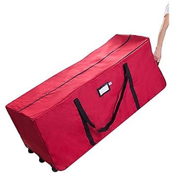 Elf Stor Rolling Duffle Christmas Tree Storage Bag   Red
