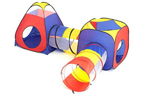 TSMD Big Size Kids Play Tents With Tunnel Set,Outdoor/Indoor Children Playhouse Ball Pits - Perfect Toys For Toddlers(Tent size increases)