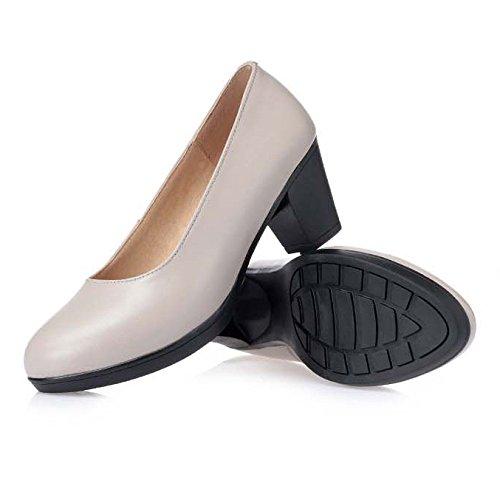 Party noir mi bureau Talons tribunal On Toe des talons gris fermés des femmes Slip confortable Shoes tribunal Chaussures v5SrOwfSq