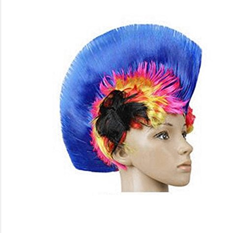 Carnival Costume Party Wig Bar Ktv Product Action Funny Hat Colorful Comb Cock Hat 06