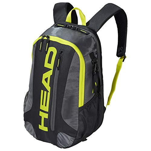 (HEAD Racquetball & Pickleball Backpack - Racket Bag w/Multiple Compartments & Adjustable Shoulder)