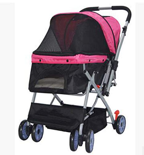 PG-One Double-Directional Bidirectional Oxford Fabric 600D Thicken for Waterproof Folding Stroller for Cart,Rosado,L