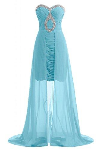 lungo Gowns damigella Blue Pageant vestito d'onore Sweetheart da abito Maxi Chic Sunvary abiti elegante qSFqH