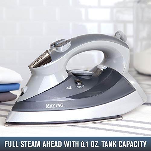 Maytag M400 Speed Heat Steam Iron amp Vertical Steamer with Stainless Steel Sole Plate Self Cleaning Function  Thermostat Dial