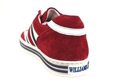 Bianco Sneakers Wilson Williams Uomo Pelle AP225 Rosso camoscio Scarpe Zww1Xyqt
