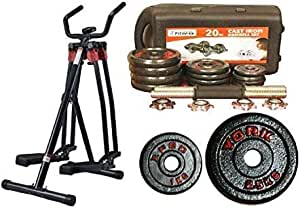 Fitness World Flying developer deer 4 points of, Black With Fat World weight group 20 kg With Vinyl Dumbbell 4 Kg - Black
