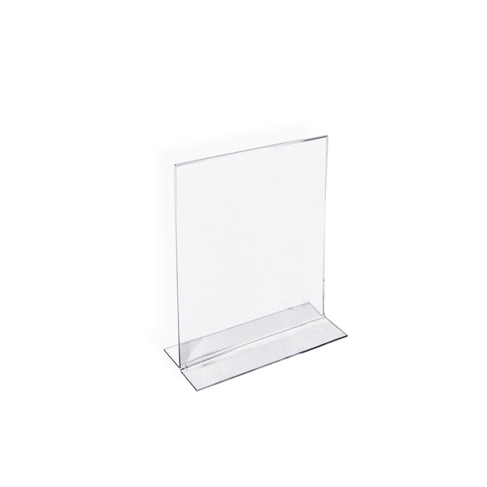 Azar Displays 152731 3-1/2-Inch by 5-Inch Vertical Double-Sided Stand Up Sign Holder, 10 Count
