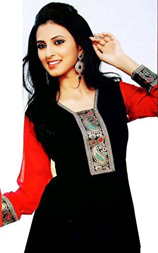 Jayayamala incroyable élégante tunique avec un beau design et à manches longues