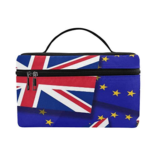 Flags Of The European Union And The United Kingdom Pattern Lunch Box Tote Bag Lunch Holder Insulated Lunch Cooler Bag For Women/men/picnic/boating/beach/fishing/school/work